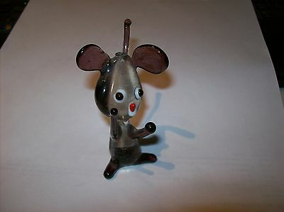 Large Murano  Vintage Mouse  7.5Cm Tall  Malta  Lovely Condition