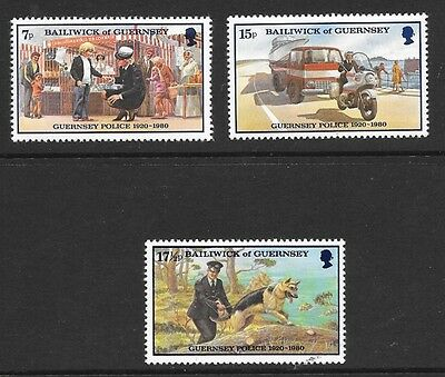 GUERNSEY 1980 60th ANNIVERSARY OF GUERNSEY POLICE FORCE STAMP SET MH