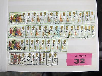 1978 ? 7p & 9p Christmas Stamps British Postage stamps VARIED LOT