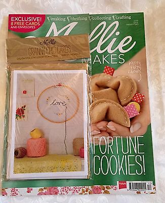 Mollie Makes Magazine Issue 22 With Free Granny Chic Cards