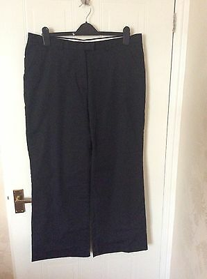 Ladies Glenmuir Black Lined Trousers Size 16