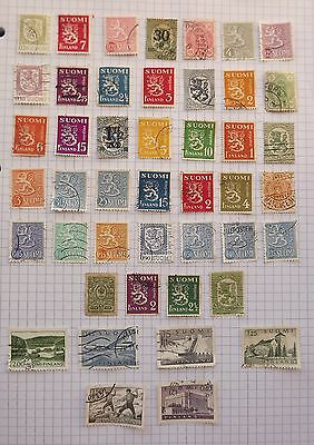 Finland. Collection of 45 stamps.     B
