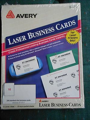 Avery printable microperf business cards laser 2 x 3 12 ivory avery 5371 250 laser business cards 2 x 3 12 reheart Choice Image