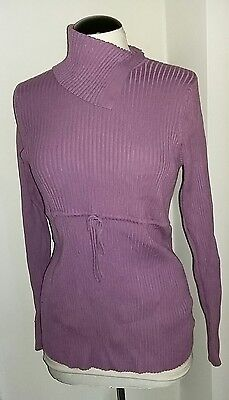 Duo Maternity Ribbed Stretchy Jumper Size Large 14 16 18