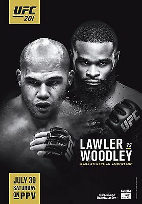 UFC 201 Fight Poster (24x36) - Robbie Lawler vs Tyron Woodley
