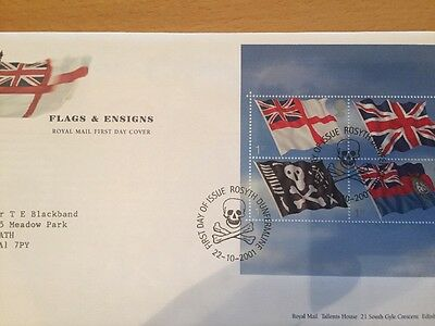 GB FDC Flags & Ensigns 22/10/01, Rosyth Dunfermline Pmk