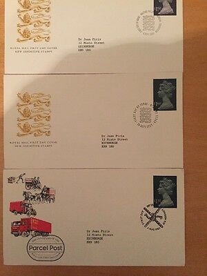 GB FDC New Definitive Stamp x3, 83-87, Mint Condition Special Pmk