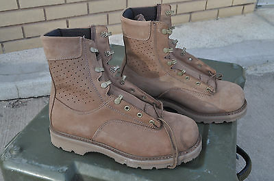 Canadian Forces Gore-Tex Lined Hot Weather Brown Suede Combat Boots 9.5W 265/108