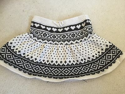 Girls Gap Wool  Fairisle Skirt. Age 18-24 Months