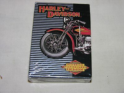 New In Package/ HARLEY DAVIDSON Historical Playing Cards 1903-1950