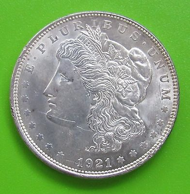 1921 $1 Morgan Silver Dollar - Almost Uncirculated