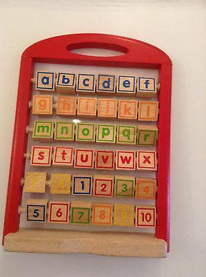 Learning Toy 123 And ABC Wooden Toy
