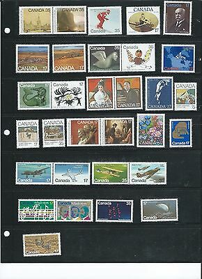 Lot 225: CANADA MNH Mint Stamps Complete Year 1980Collection from Year Book