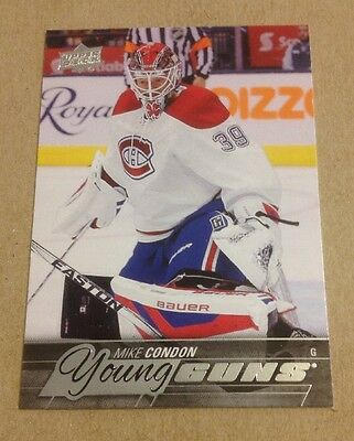 2015-16 Upper Deck Mike Condon Young Guns Rookie Card