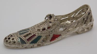 Vintage Solid Silver Shoe Miniature - Stamped - Made in Italy
