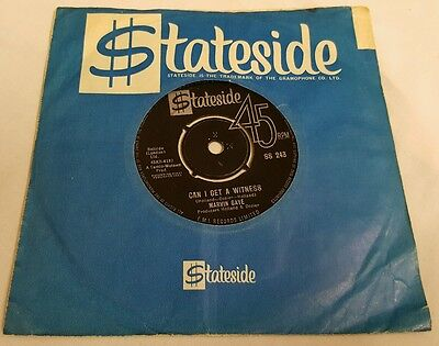 Rare Uk 63 Stateside 45 Marvin Gaye Can I Get A Witness
