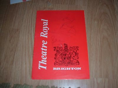 Leonard Rossiter And Wife Lilian Signed Theatre Programme
