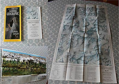 National Geographic Magazine November 1988 with Everest Double Map Supplement.