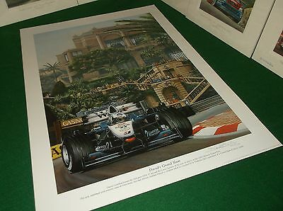 David Coulthard McLaren Mercedes Monaco F1 Grand Prix Limited Edition Art Print