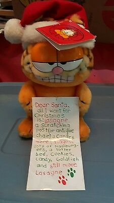 100% Pure Garfield Christmas stuffed Garfield