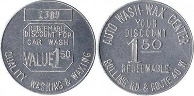 BALTIMORE MARYLAND AUTO WAX CENTER car wash token MD 600-A