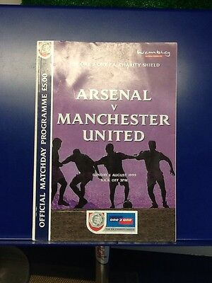 1999 FA Charity Shield Arsenal v Manchester United programme
