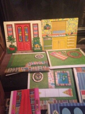 Vtg Mattel 1970 Barbie Surprise Doll House Walls And Roof-incomplete