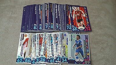 Topps match attax 16/17 x 100  bundle no doubles + willian limited edition  card