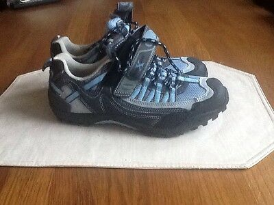 Women's Size UK 5 Cross bike Cycling Running Shoes Sky Blue / Grey Unused