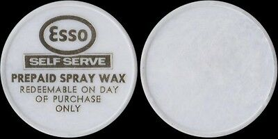 YORK PENNSYLVANIA car wash token ESSO PREPAID SPRAY WAX PA 9950-J