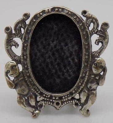 Vintage Solid Silver Frame Miniature - Stamped - Dollhouse - Made in Italy