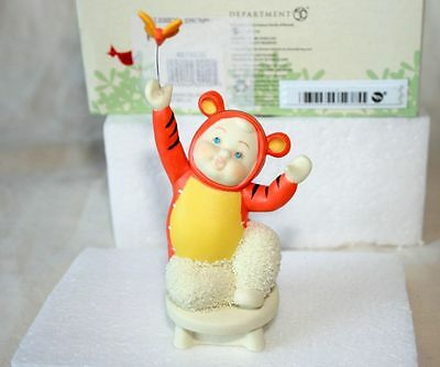 Snowbabies Department 56 'I'm A Bouncy Tigger' Figurine, New In Box, Ex Cond