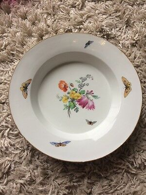 Berlin Hand painted Antique Soup Bowl