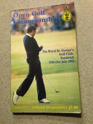 Open Golf 1985 Programme Seve