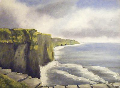 Irish Art   CLIFFS OF MOHER New Original Painting by Aine