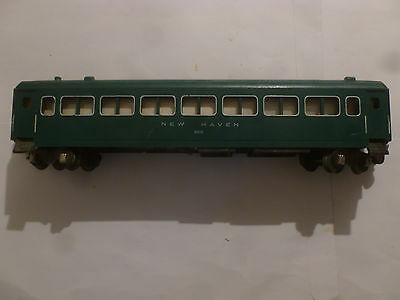 American Flyer S Scale Passenger Car New Haven 650. Green. Interior Light