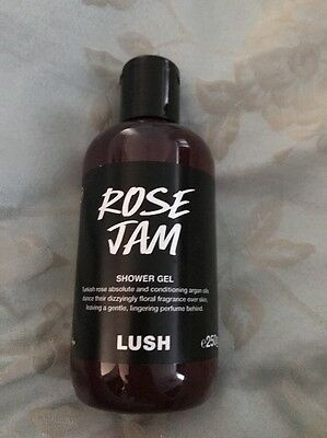 LUSH - Rose Jam Shower Gel - 250g Bottle - Brand New - Sold Out