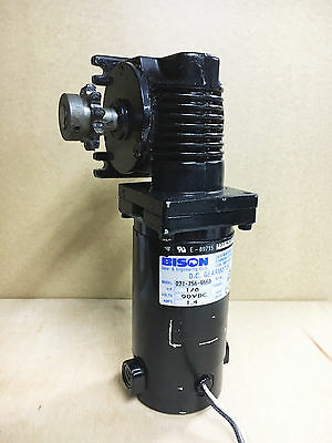 Bison Right Angle Gear Motor 021-756-9660 - 90vDC 1/8HP 30RPM 100iLBS 60:1 USA!