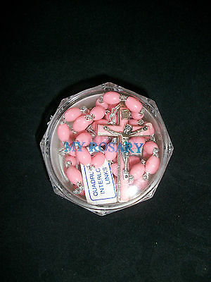 MY ROSARY - PINK BEADS first holy communion