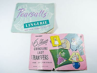 Vintage Iron On Transfers For Embroidery Knitting Craft Retro Pattern Designs