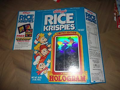 Kellogg's Rice Krispies Cereal Box 1988 Circus Hologram Snap Crackle Pop Limited