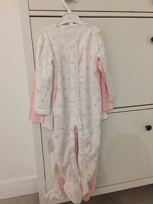 bnwt three baby girls sleepsuits George 100% cotton 18-24 months