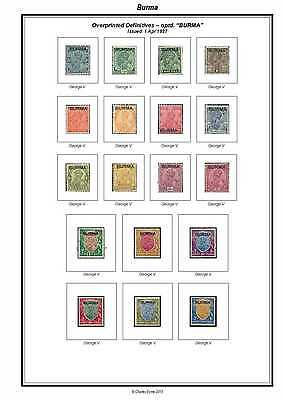 Print a Burma Stamp Album Fully Annotated & Completely Colour Illustrated