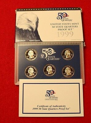1999 S & 2003 S United States Mint 50 State Quarters Proof Set. (CLAD)