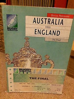 1991 - AUSTRALIA v ENGLAND - RUGBY WORLD CUP PROGRAMME