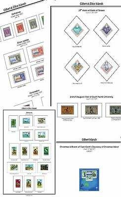 Print a Gilbert & Ellice l Stamp Album Annotated & Completely Colour Illustrated