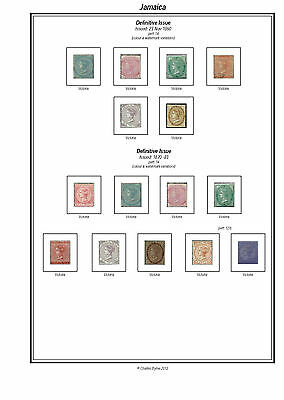 Print a Jamaica Stamp Album Fully Annotated & Completely Colour Illustrated
