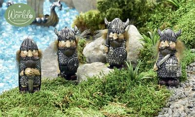 Fairy Garden Mini - Viking Village Viking Defenders - Set of 4