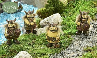 Fairy Garden Mini - Viking Village Viking Townsmen - Set of 4