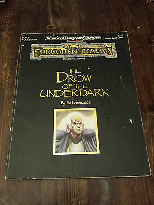 A D&D 2nd Edition Forgotten Realms THE DRAW OF THE UNDERDARK by Ed Greenwood